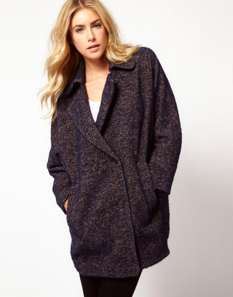 двубортное женское пальто с чем носить фото